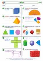 Mathematics - Second Grade - Worksheet: Solids
