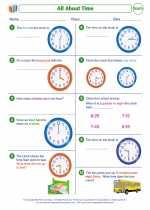Mathematics - Second Grade - Worksheet: All About Time