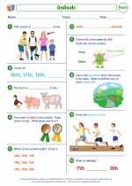Mathematics - Second Grade - Worksheet: Ordinals