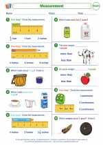 Mathematics - First Grade - Worksheet: Measurement
