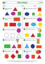 Mathematics - First Grade - Worksheet: Plane Shapes