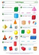Mathematics - First Grade - Worksheet: Solid Shapes