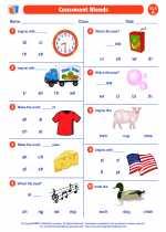 English Language Arts - First Grade - Worksheet: Consonant Blends and Digraphs