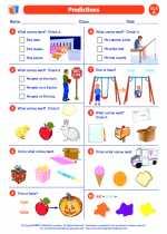 English Language Arts - First Grade - Worksheet: Predictions