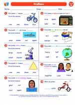 English Language Arts - Second Grade - Worksheet: Prefixes