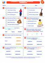 English Language Arts - Second Grade - Worksheet: Complete & Incomplete Sentences