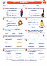 English Language Arts - Second Grade - Worksheet: Complete & Incomplete Sentences
