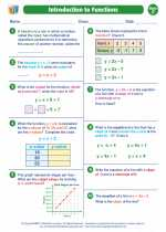 Mathematics - Seventh Grade - Worksheet: Introduction to Functions
