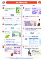 English Language Arts - Fourth Grade - Worksheet: Parts of a Book