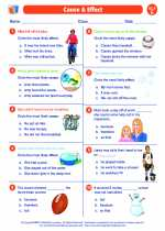 English Language Arts - Fifth Grade - Worksheet: Cause and Effect