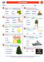 English Language Arts - Sixth Grade - Worksheet: Root Words