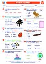English Language Arts - Sixth Grade - Worksheet: Prefixes & Suffixes