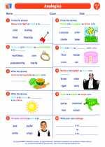 English Language Arts - Sixth Grade - Worksheet: Analogies