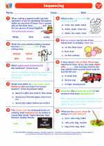 English Language Arts - Sixth Grade - Worksheet: Sequencing