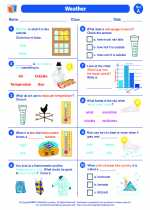 Science - First Grade - Worksheet: Weather