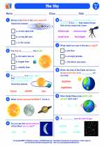 Science - First Grade - Worksheet: The Sky