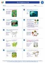 Science - Sixth Grade - Worksheet: Six Kingdoms of Life