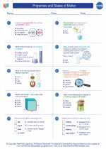 Chemistry - High School - Worksheet: Properties and States of Matter
