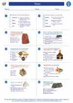 Science - Eighth Grade - Worksheet: Rocks