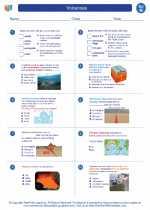 Science - Eighth Grade - Worksheet: Volcanoes