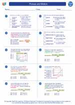 Physics - High School - Worksheet: Forces and Motion