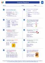 Chemistry - High School - Worksheet: Chemical Reactions