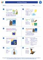 Science - Third Grade - Worksheet: All About Energy