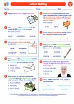 English Language Arts - Seventh Grade - Worksheet: Letter Writing