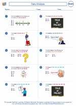 Mathematics - Fourth Grade - Worksheet: Data Analysis