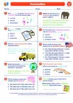 English Language Arts - Seventh Grade - Worksheet: Punctuation