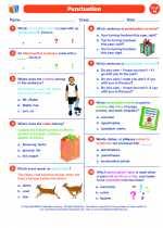English Language Arts - Eighth Grade - Worksheet: Punctuation