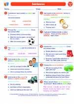 English Language Arts - Eighth Grade - Worksheet: Sentences
