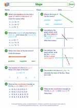 Mathematics - Seventh Grade - Worksheet: Slope