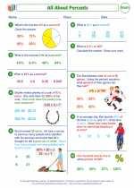 Mathematics - Seventh Grade - Worksheet: Introduction to Percent