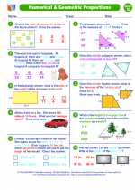 Mathematics - Seventh Grade - Worksheet: Numerical & Geometric Proportions