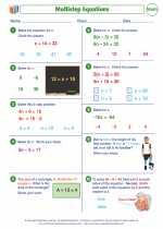 Mathematics - Seventh Grade - Worksheet: Multistep Equations