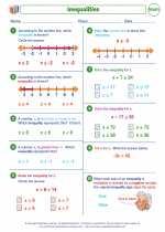 Mathematics - Seventh Grade - Worksheet: Inequalities