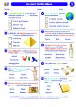 Social Studies - Third Grade - Worksheet: Ancient Civilizations