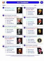 Social Studies - Fourth Grade - Worksheet: U.S. Presidents
