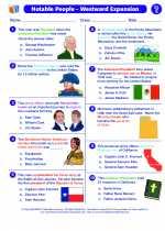 Social Studies - Fifth Grade - Worksheet: Notable People-Westward Expansion