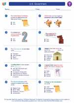 Social Studies - Third Grade - Worksheet: U.S. Government