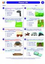 Social Studies - Fifth Grade - Worksheet: Pioneer Life