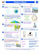 Science - Fourth Grade - Worksheet: Weather and Climate