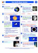 Science - Seventh Grade - Worksheet: The Sun-Earth-Moon System