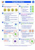Properties of atoms. 8th Grade Science Worksheets and ...