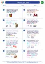 Mathematics - Sixth Grade - Worksheet: Percent, Rate, Base