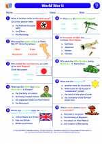 Social Studies - Sixth Grade - Worksheet: World War II