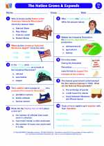 Social Studies - Seventh Grade - Worksheet: The Nation Grows and Expands