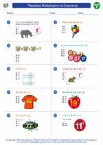 Mathematics - Sixth Grade - Worksheet: Repeated Multiplication to Exponents