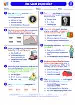 Social Studies - Eighth Grade - Worksheet: The Great Depression